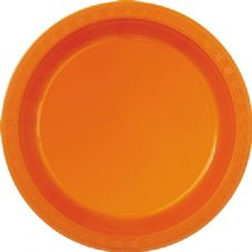 "16 Orange Paper Party Plates 9""/23cm"
